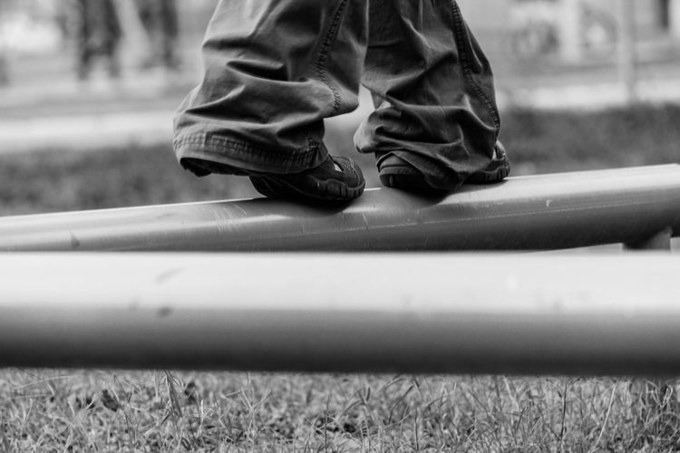 The Child in You. Enjoying Life Black And White Photography Black And White Blackandwhite Black & White Shoes Shoes ♥ Shoeselfie Park Balance Childhood Memories Excerci NX1 Still Life Fine Art Monochrome Perspective Bottomview Point Of View Remember Good Morning God Bless Weslaco TX