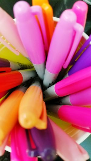 Pink Color Close-up No People Day Multi Colored Indoors  Freshness Markers  Neon Color Highlighters