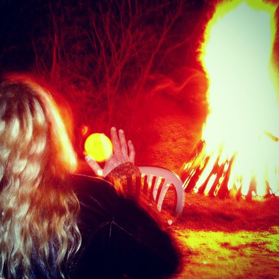 Playing the djembe Music Nature Fire Light