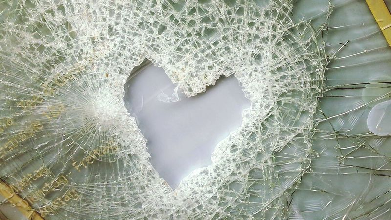 Broken Glass Shards Smashing Heart but I Just Want To Make Her Happy Textures And Surfaces Geometric Shapes Thank You @jeanette_1 for your Invitation it is a challenging mini Mission but very cool!