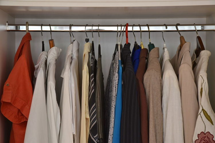 Choice Closet Clothing Coathanger Fashion Furniture Hanging In A Row Indoors  Large Group Of Objects Multi Colored No People Order Side By Side Variation