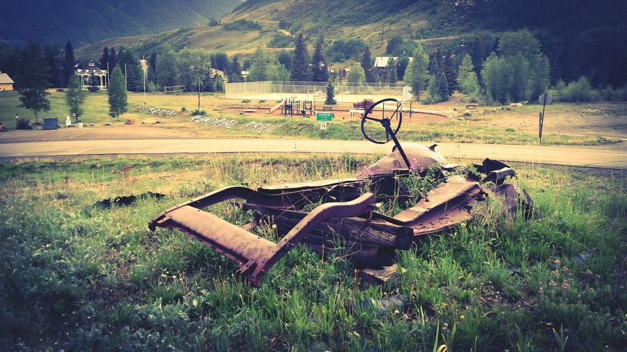 Abandoned Coloradophotographer Silverton, Colorado Old Car Rusted Old Car Mountains Country Life Country Yard