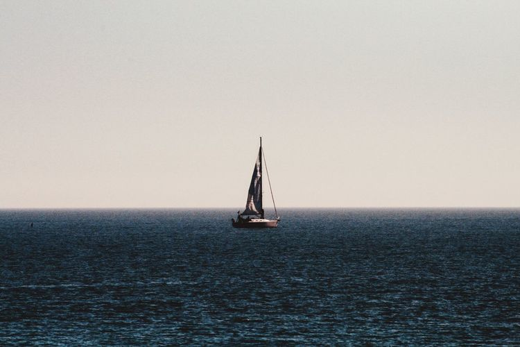 EyeEm Selects Water Sea Sailboat Sailing Nautical Vessel Transportation Mode Of Transportation Horizon Over Water Sky Horizon Waterfront Nature Tranquility Travel Scenics - Nature Tranquil Scene No People Beauty In Nature Ship My Best Photo
