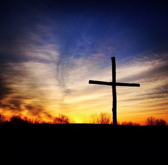Easter Ready Easter Cross Sunrise Sunrise Silhouette Nature Photography Religion Christianity Sunrise Service Rainbow Colors