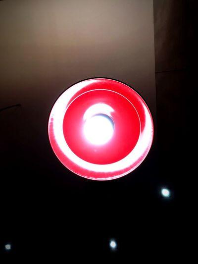 Close-up of illuminated pendant light
