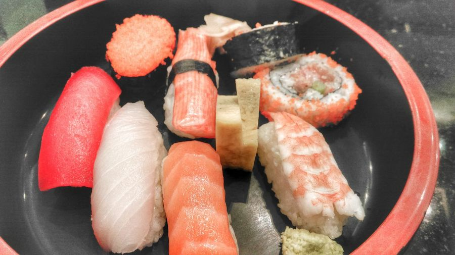 Close-Up Of Sushi Plate