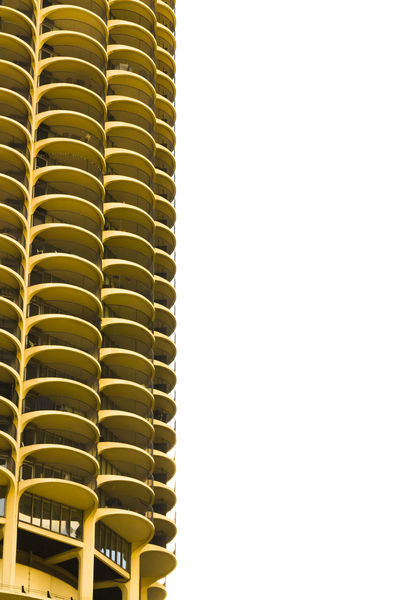 Architecture Balcony Chicago City Geometry Marina Marina City Repeating Patterns Ryhthm Twins Yellow