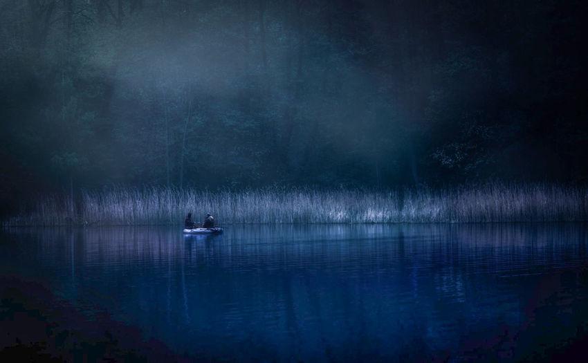 Dramatic Lake At Dusk