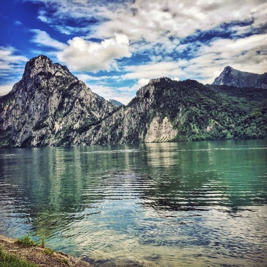 Traunsee Traunstein Summer Views IPhoneography Iphonephotography The Essence Of Summer Traunkirchen Lake Lakeview Lake View Traunkirchen Summer2016 Nature Nature_collection Nature Photography Austria Austrianphotographers Oberösterreich