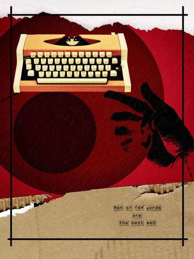 Shakespeare Quote Bold No People Text Red Typewriter Hand Silhouette IPhoneography Vintage Vibrant Color