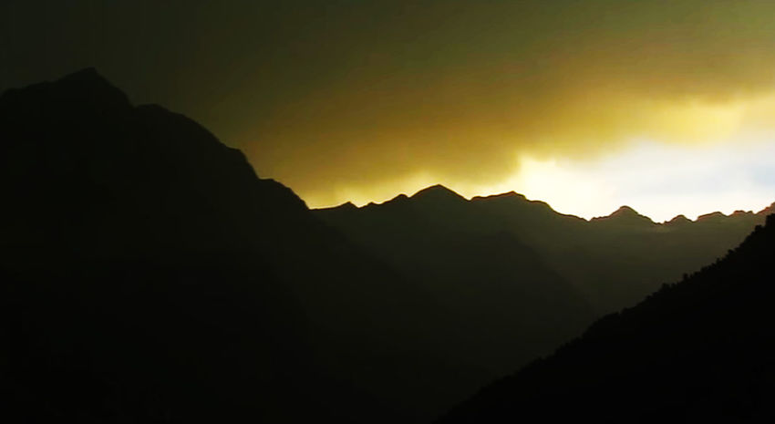Mountain Mountain Mountainscape Panorama Sunset_collection Mountain Sunset City Silhouette Mountain Peak Sky Landscape Mountain Range