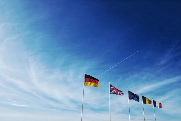European flags, brexit, europe