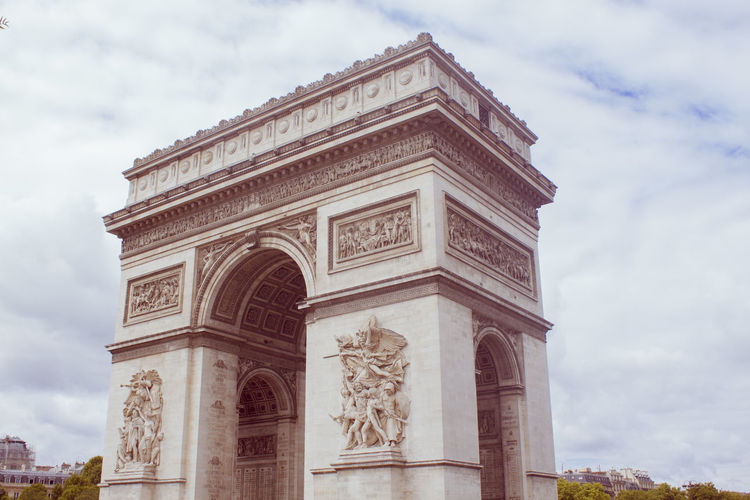 Arc De Triomphe Architecture Built Structure Europe Famous Place History Low Angle View Paris Tourism Travel Destinations