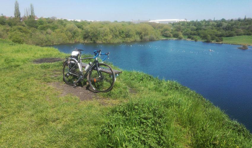 Nature Reserve Lake Lakeside Landscape Bicicleta Bikesaroundtheworld Tree Water Bicycle Sky Grass Green Color