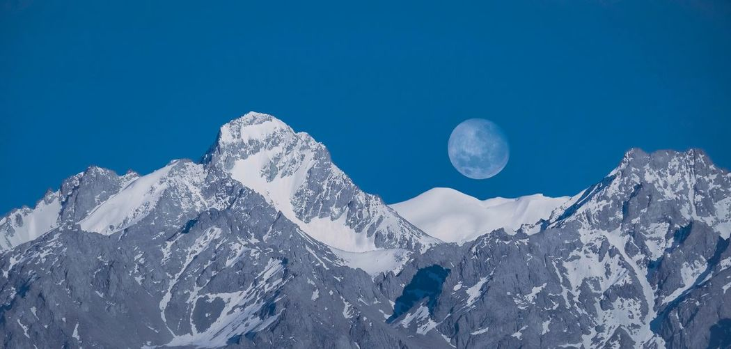 Moon rise over the mountain