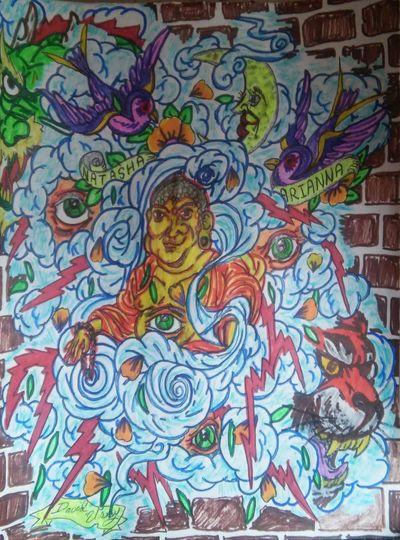 Tattoo Flash Mural Idea