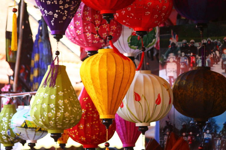 Hoi An, Vietnam Purist No Edit No Filter Christmas Decorations Christmas In A Row Lanterns Postcard Picture Vietnamese Culture Vietnamese Lantern Holidays Seasonal Colorful Lanterns Arrangement Displays