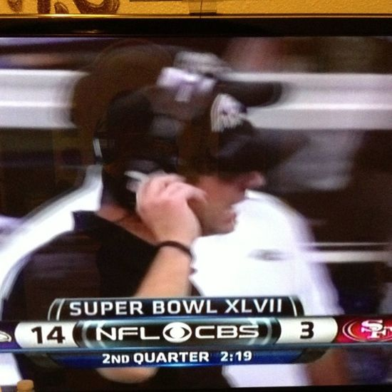 Watching Super Bowl XLVII