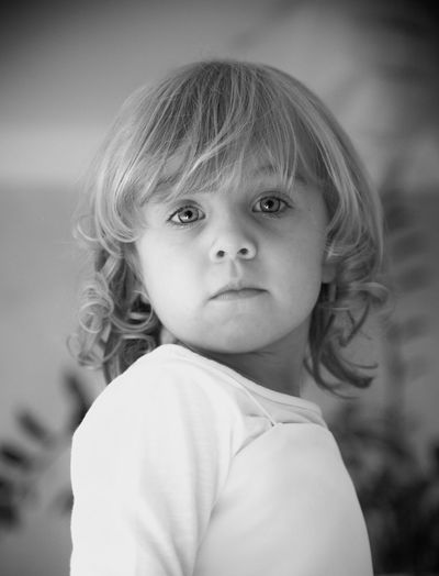 Blackandwhite Portrait Blackandwhite Photography Child Childhood Portrait Cute One Person Innocence Headshot Focus On Foreground Real People Looking At Camera Girls Close-up Lifestyles Human Face Innocence Looking At Camera Blond Hair My Best Photo The Portraitist - 2019 EyeEm Awards