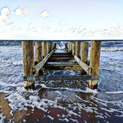 Baltic Sea Beach Edit Edited Effect Sea Sea And Sky Seascape Water Perfect Nopeople Kühlungsborn Baltic Sea Beauty In Nature Beautiful Awesome Nature Scenics Horizon Over Water EyeEmNewHere