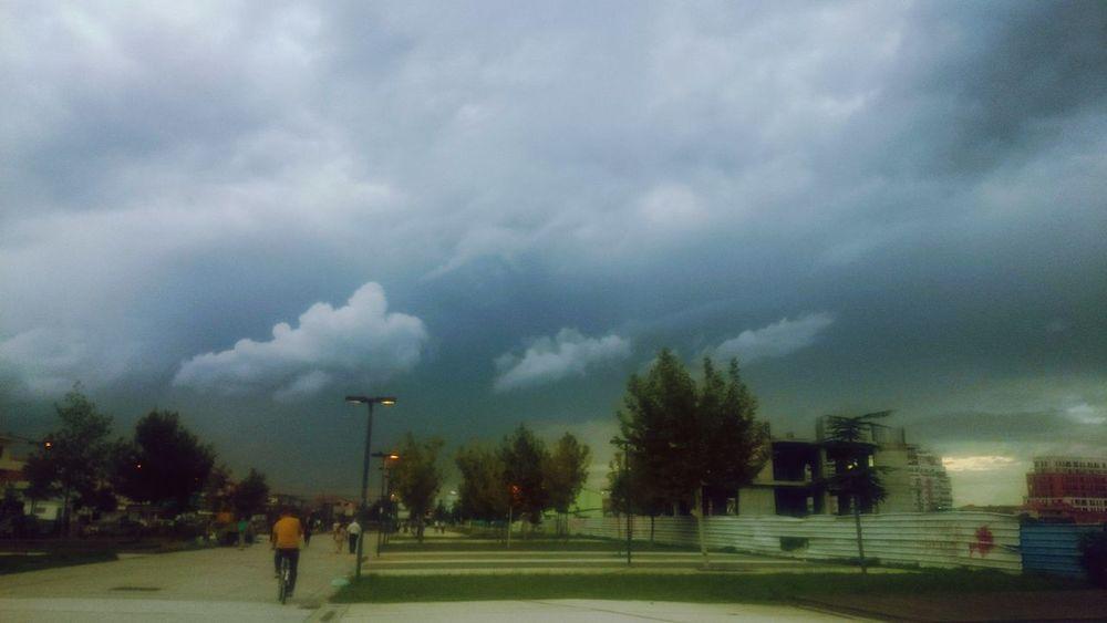 Tree Weather Thunderstorm Cloud - Sky People Outdoors Sky Nature Storm Cloud Storm Day Photography Travel Photography Street Photography Taking Photos City Lifestyles Winter Tirana Albania