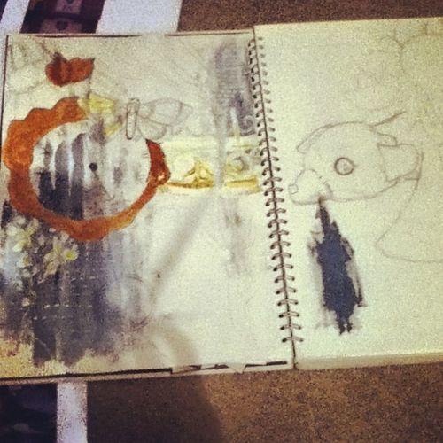 Feeling productive today. Art -textiles Childhood Paintingthebackground