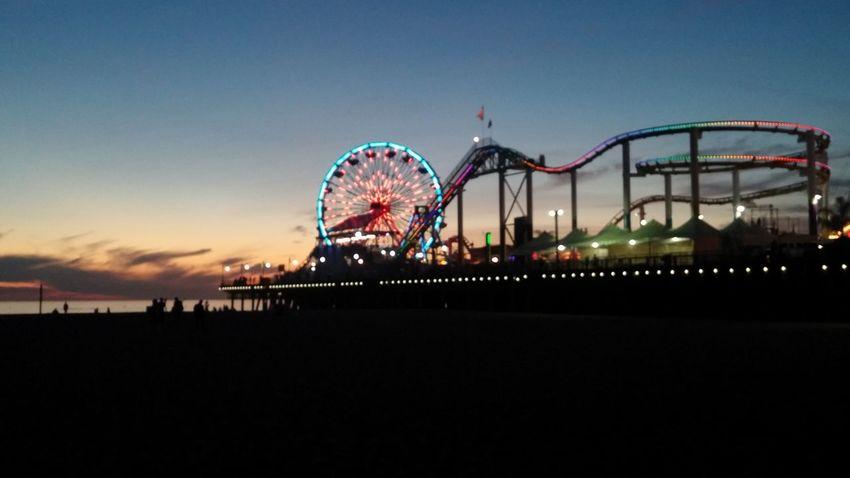 Is it called magic? Santa Monica Ferris Wheel Beach Photography Pier