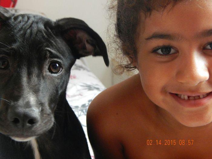 I Love My Dog Smile❤ Children Photography