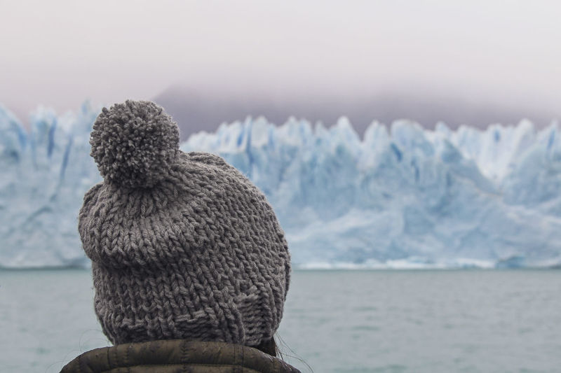 Water Winter Rear View Sea Cold Temperature Animals In The Wild Nature Snow Focus On Foreground Day Animal Warm Clothing Sky Outdoors Looking At View Glacier Girl Argentina