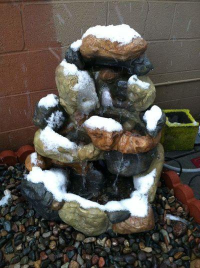 Snow fall.. Prescott, AZ Nature Close-up Fountain Snow