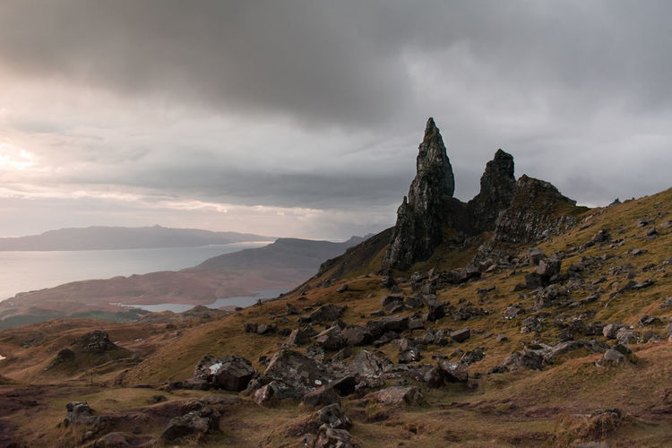 Ilse Of Skye Old Man Of Storr Scotland United Kingdom Beauty In Nature Cloud - Sky Day Highlands Landscape Mountain Nature No People Outdoors Scenery Scenics Scotlandsbeauty Scottish Highlands Sky Uk