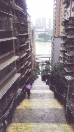 Architecture Built Structure Building Exterior Day Nature City Direction The Way Forward Outdoors Building Plant Real People Sky Sunlight Railing One Person Footpath Walking Staircase