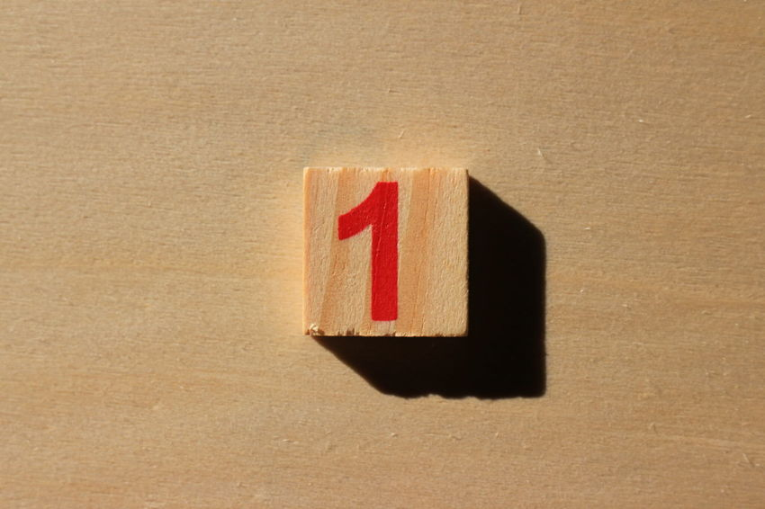 Sunlight Wood Brown Childhood Close-up Day Education Hardlight Indoors  Learn No People Number Numeric One Red Shadow Wood - Material