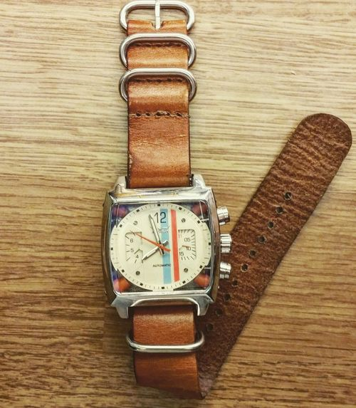 Classic Vintage Leather NATO Watch