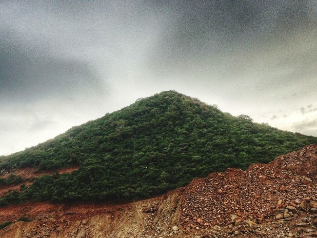 Nature Mountain Tranquility Tree Sky No People Growth Outdoors Beauty In Nature Scenics Cloud - Sky Mountain Peak Day XperiaZ5 Vijayawada Xperıa Sony Xperia Landscape Green Color Mobile Phone Photography Mobiography Capped Mountains Capped