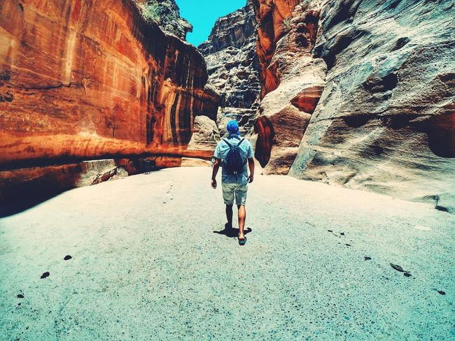 Explore Travel Rear View Full Length One Person Outdoors Nature Beauty In Nature Mountain Lifestyles