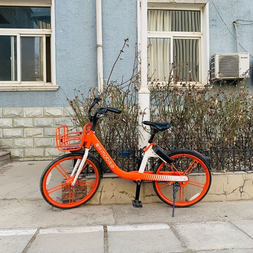 Bicycle Transportation Mode Of Transportation Land Vehicle Architecture Stationary Building Exterior Built Structure City Parking Wall - Building Feature Day Building No People Wall Window Outdoors Footpath Street Sidewalk