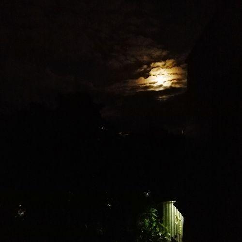 My moon Beauty In Nature Night Moody Sky Moon Same Sky I Miss You