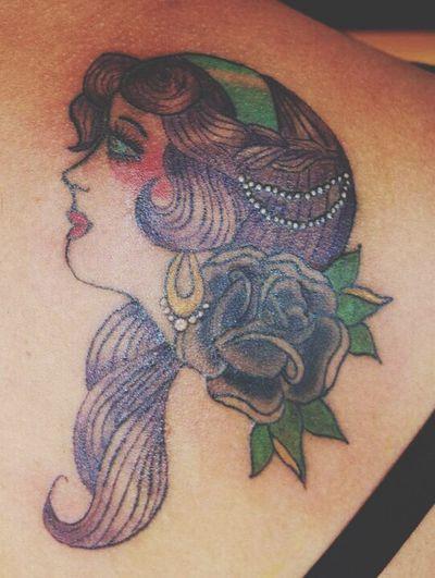 Tattoo Gypsy Gypsy Girl Old School