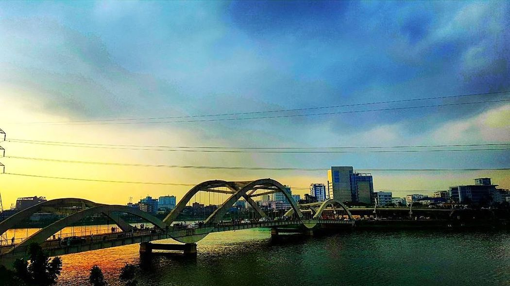 An Evening view of Hatir jheel, Dhaka, Bangladesh!!! Sunset Built Structure Water Sky Beauty In Nature Multi Colored Beautiful View Nature_collection Landscape_collection EyeEmNatureLover Cityscape Dhakacity Bangladesh 🇧🇩 Sunset Lovers EyeEm Best Shots - Sunsets + Sunrise EyeEm Nature Lover Awsome Sunset Breathing Space The Week On EyeEm EyeEmNewHere Investing In Quality Of Life