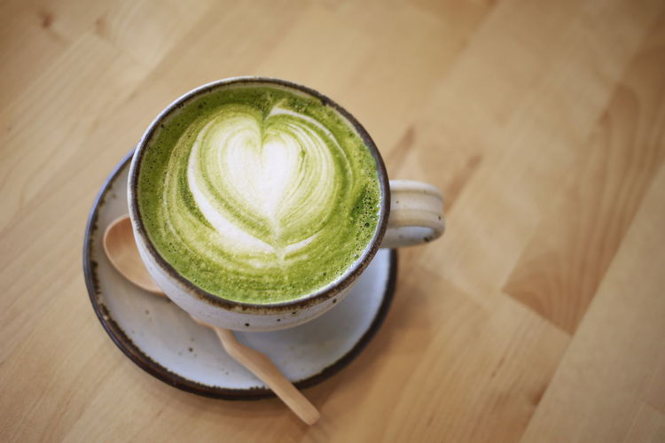 a cup of green