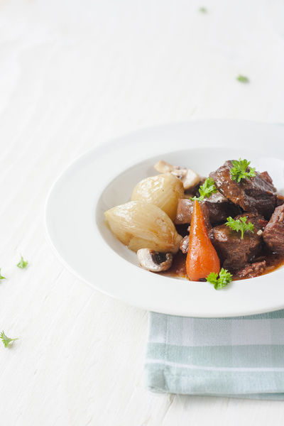 Hearty boeuf bourgignon, beef stew. Julia Child's recipe. Comfortfood Julia  Boeuf Boeufbourgignon Beef Stew Food Food Porn