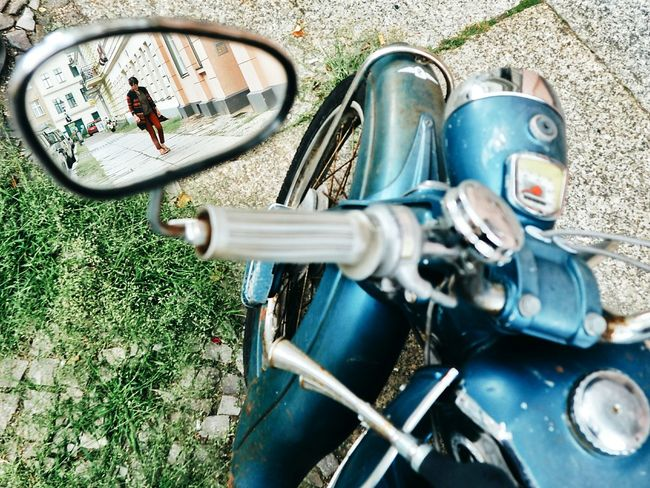 Pivotal Ideas Motorcycles Motorcycle Motorcycle Photography Mirror Mirror Reflection Innovating Unique Perspectives Angles And Views Reflection Reflection_collection Urbanphotography Objects Multitasking Berlin Berliner Ansichten EyeEm Best Shots Eye4photography  Vintage Objects Vintage Motorcycles Streetphotography Streetphoto_color Berlin Street Photography Neighborhood Capture Berlin Neighborhood Map Discover Berlin