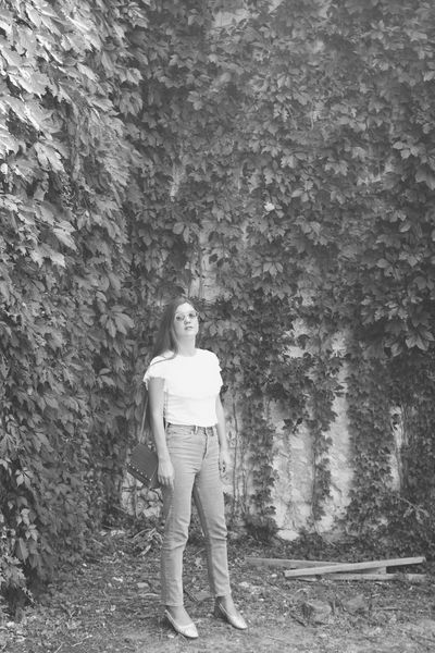 Blackandwhite Retro Styled women around the world Analogue Photography Croatia Vogue Fashion Photography Fashion Model Fashion Urban Fashion Urban Fashion Jungle One Person Full Length Front View Real People Standing Lifestyles Casual Clothing Young Adult Day Leisure Activity Women Young Women Nature Outdoors Smiling Plant Portrait Beautiful Woman Adult