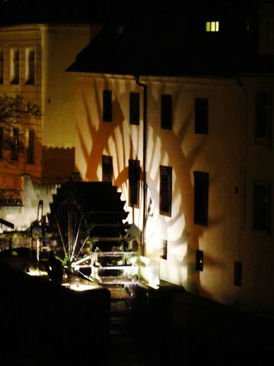 Medieval Water Mill on the Certovka near the Charles Bridge Prague Praha Shadows Canal Old Buildings Water