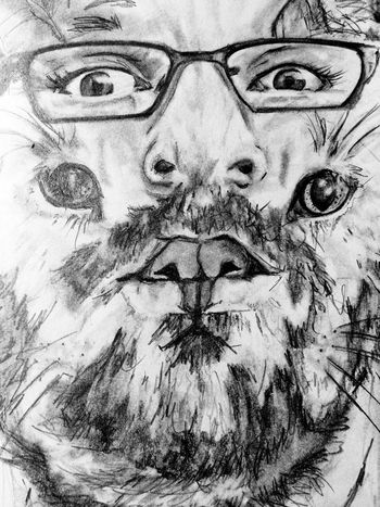 Double exposure Art, Drawing, Creativity Drawing Blackandwhite black and white portrait