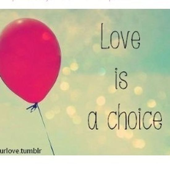 And I choose to love:)