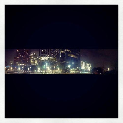 Chill night, but still bored. Viewfromdiscoverygreen Panoramicshot Houston