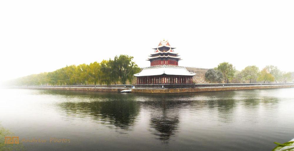 Beijing, China Building Exterior International Landmark Snow The Forbidden City  Wintertime