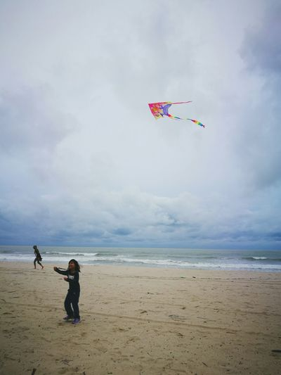 Sea Beach Kite - Toy Child Sand One Person People Childhood Children Only Water Outdoors Vacations Kiteboarding Sky Horizon Over Water Day Nature Malaysia Terengganu